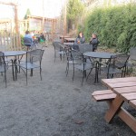 Picture of outside seating at the Mashtun.